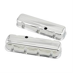 Mr Gasket 9802 Chrome Tall-Style Valve Covers w/o Baffle, BBC 396-454