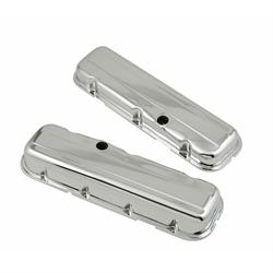 Mr Gasket 9803 Chrome Short-StyleValveCovers w/baffles, 396-454 BBC