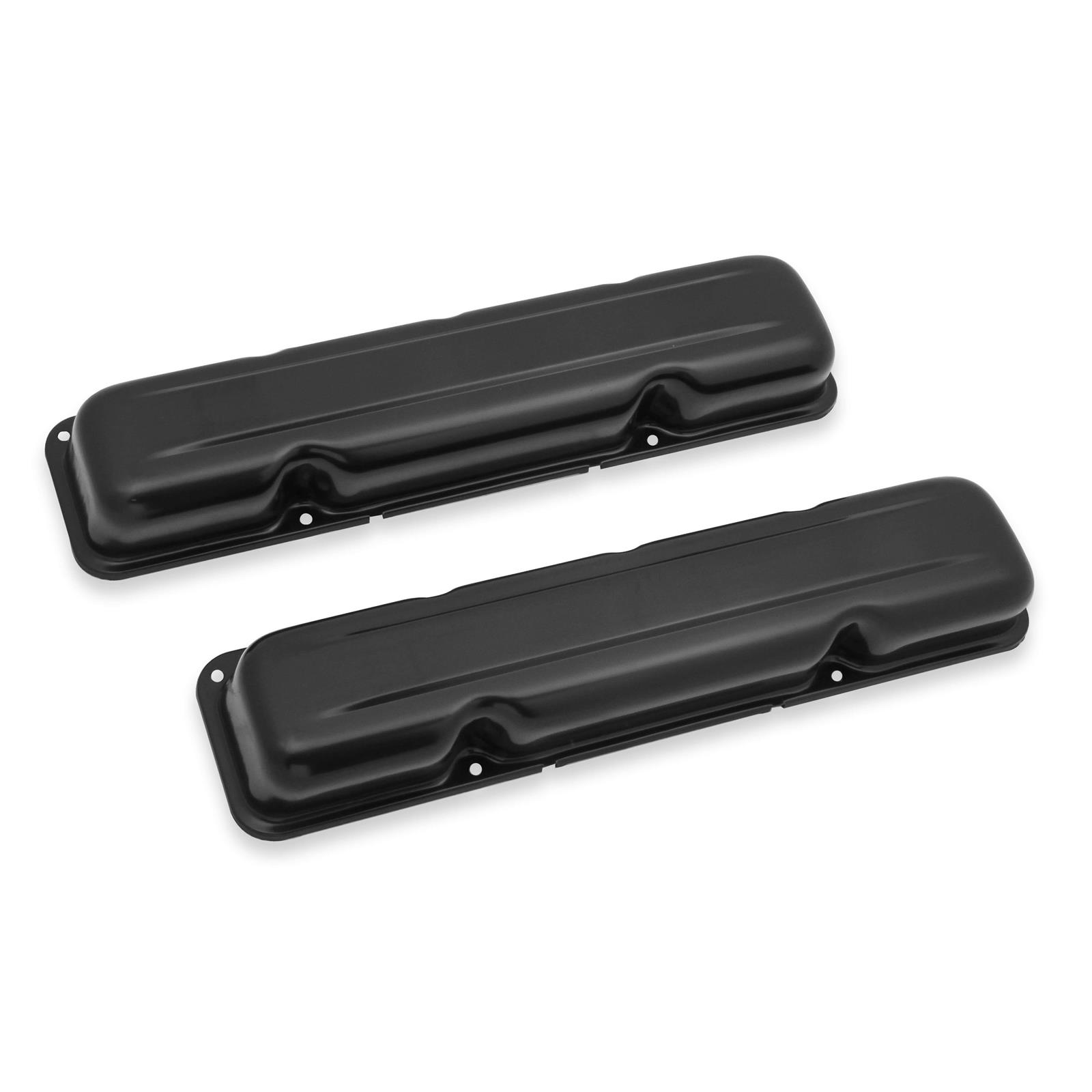 1968-1979 AMC Jeep V8 304 360 390 401 Black Short Style Steel Valve Covers