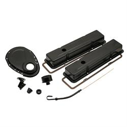 Mr Gasket 9834BP Engine Dress Up Kit, Flat Black, SBC