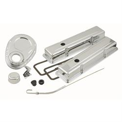Mr Gasket 9834 Dress Up Kit, 1958-1985 Small Block Chevy, Chrome