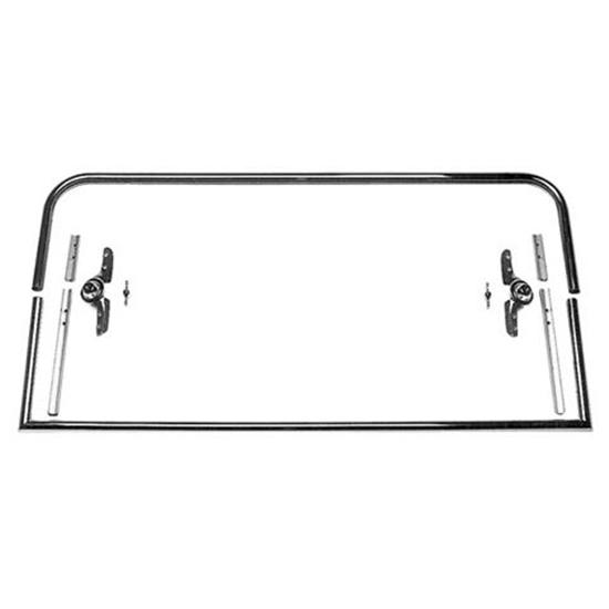 Two-Piece Round Top Model T Roadster Windshield Frame, 40-1/2 In Wide