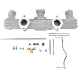 Offenhauser 2691 Dual Carburetor Aluminum Intake Manifold