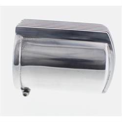 Offenhauser Finned Oil Filter Cover, Polished Aluminum
