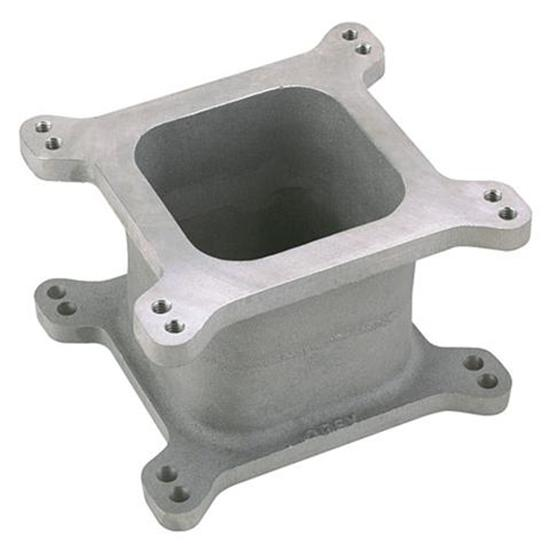 Speedway Aluminum Open 4-Barrel Carburetor Spacer, 4 Inch