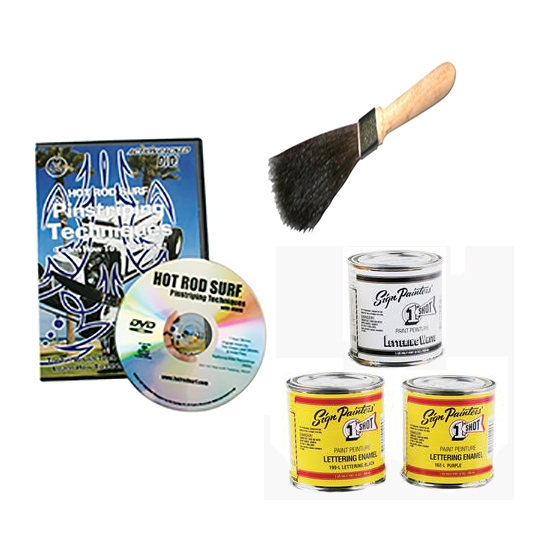 Pinstriping Kit Paint Brush Dvd Video