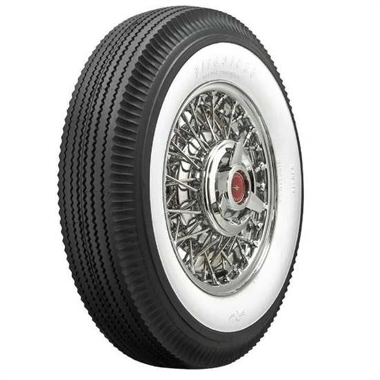 15 inch car tires	  Firestone Vintage Bias Tire, 670-15 2.6875 Inch Whitewall
