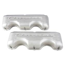 Chevy 348/409 Finned Aluminum Valve Covers, Plain
