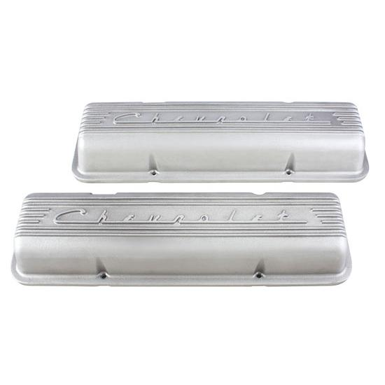 Finned 1960-86 Small Block Chevrolet Valve Covers, Plain