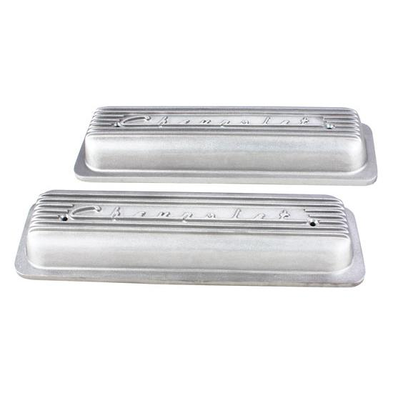 Finned 1987-98 Small Block Chevrolet Centerbolt Valve Covers, Plain