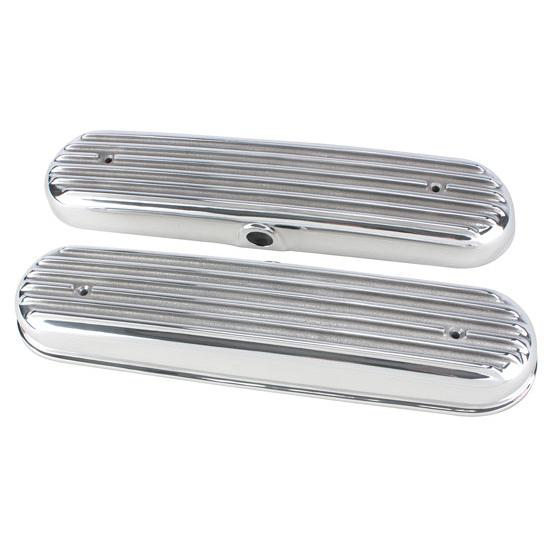 Chevy LS1/LS6 Finned Valve Covers, Polished