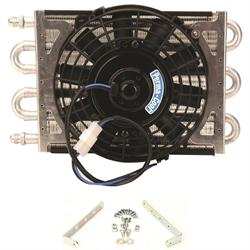 Perma-Cool 13211 Maxi-Cool Jr. 6-Pass Transmission Cooler w/8 Inch Fan