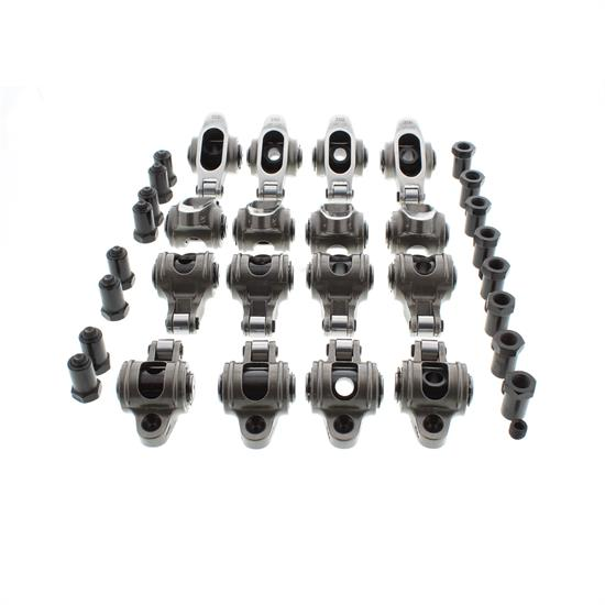 Small Block Chevy Stainless Steel Roller Rocker Arms, 1.6:1, 3/8 Stud