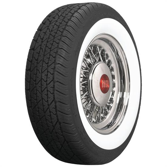 Coker Tire 579403 BF Goodrich Silvertown Whitewall Radial, 205/75R-15