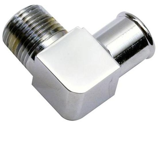 3//8 Inch Hose to 1//4 NPT Chrome 90   Adapter Fitting