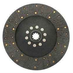 Ram 251 10.5 Inch Organic Clutch Disc, Solid Hub, 1-1/8 Inch 10-Spline