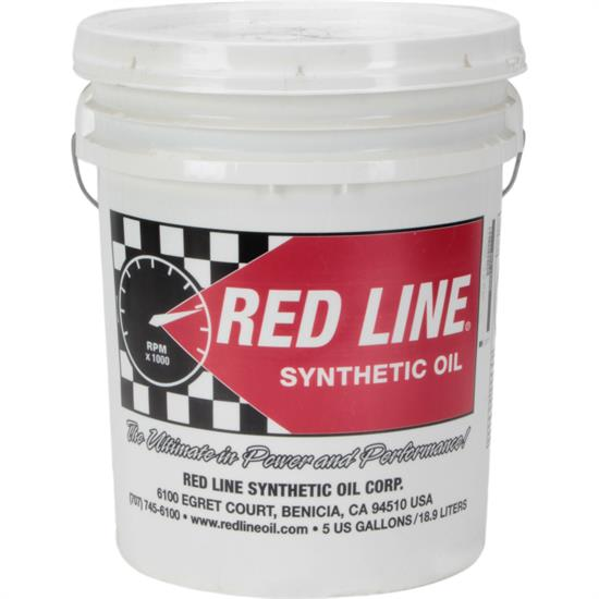 Red line synthetic oil 15206 5w 20 motor oil 5 gallon for Best non synthetic motor oil
