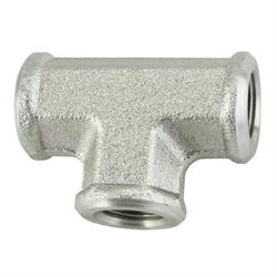 Steel Female 1/8 Inch NPT Tee Fitting