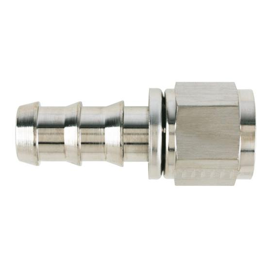 Aeroquip FCE1514 Nickel Straight Push-On Socketless Fitting, -10 AN