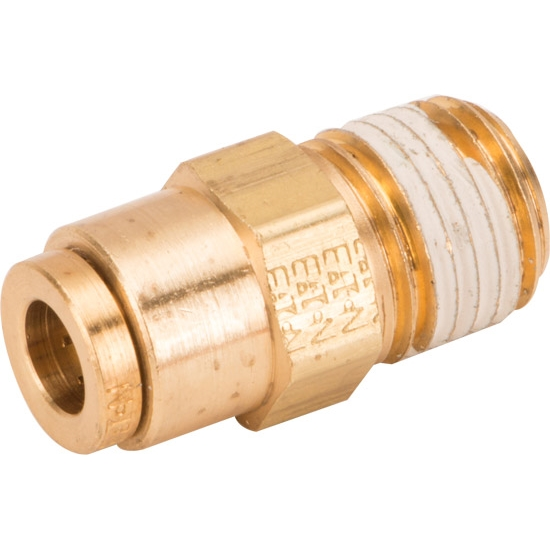 Air Suspension 1/4 In OD to 1/4 In NPT Male Brass Connector