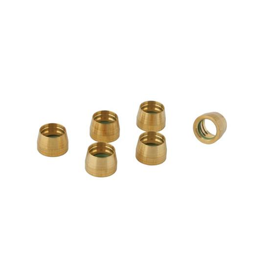 Brass Replacement Sleeves - AN8 AC - Set of 6