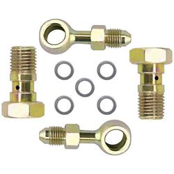 Speedway Banjo Brake Fitting Kit, 3/8-24 to -3 AN