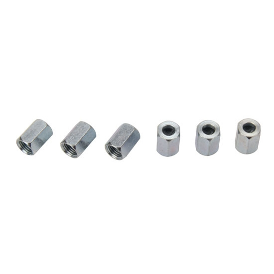 Steel AN3 Tube Nuts - 6/Bag