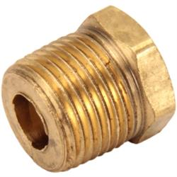 Straight Brass Pipe Bushing, 3/8 NPT to 1/8 NPT