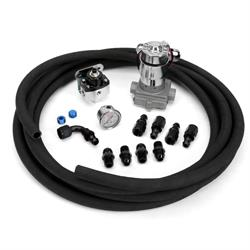 Fuel Delivery Kit, Black Hose and Fittings, -8 AN