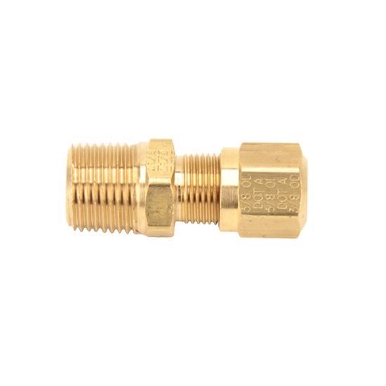 Air Suspension Tubing Male Connector Fitting, 3/8 In NPT - 3/8 Tubing