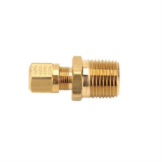 Air Suspension Tubing Male Connector Fitting, 1/2 NPT - 3/8 Inch Tube