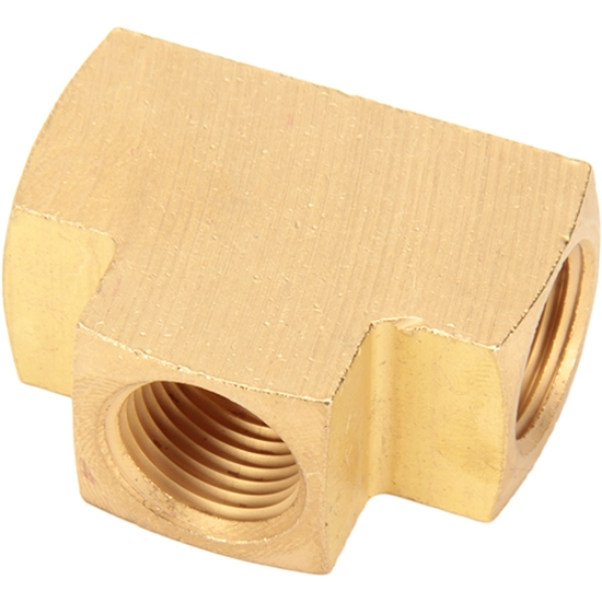 Air Suspension Brass Female Tee Fitting, 3/8 Inch NPT