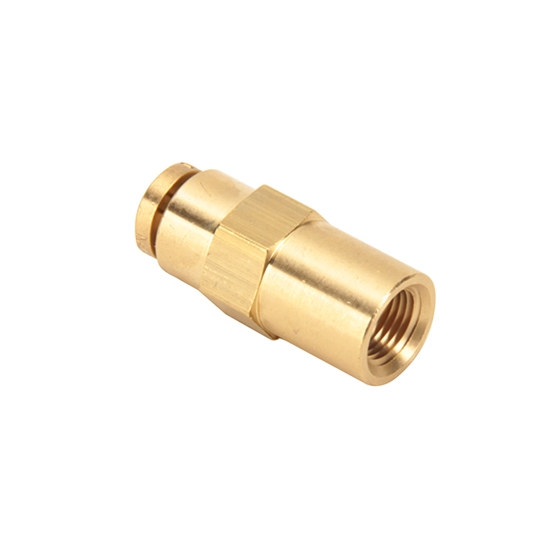 Air Suspension Tubing Straight Connector Fitting, 1/4 - 1/8 NPT