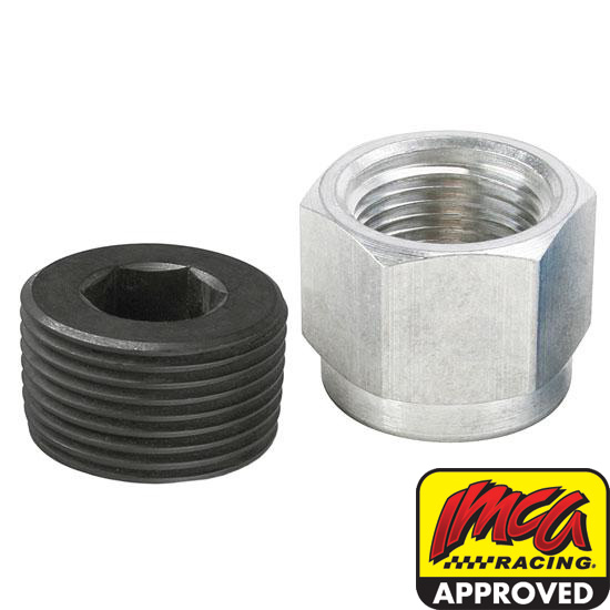 Aluminum Oil Pan Inspection Plug, 1 Inch NPT