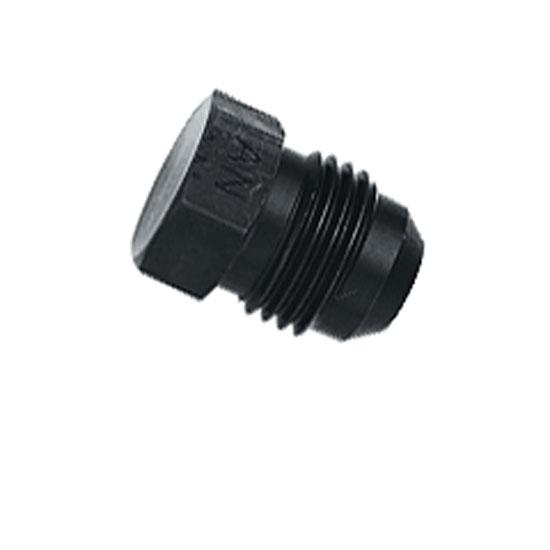 Aluminum Flare Fitting Plug, Black, -10 AN