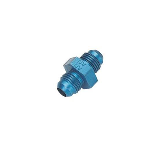 Aluminum Flare Union Adapter Fitting, Blue, -6 AN