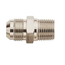 Nickel Straight to Aluminum Pipe Adapter Fitting -6 AN to 1/8 Inch NPT