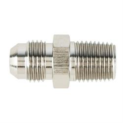 Nickel Straight to Aluminum Pipe Adapter Fitting -8 AN to 3/8 Inch NPT