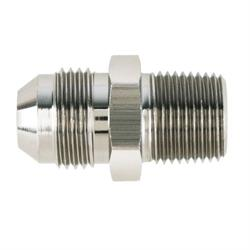 Nickel Straight to Aluminum Pipe Adapter Fitting, -10 AN to 1/2 In NPT