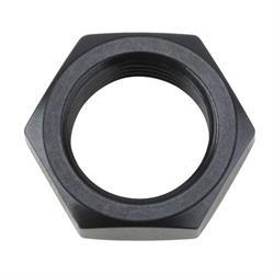 Aluminum Bulkhead Jam Nut, Black, -8 AN