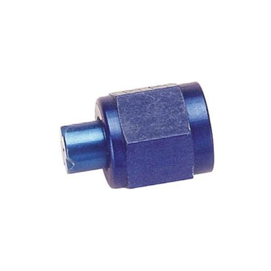 Aluminum Flare Fitting Cap, Blue, -6 AN