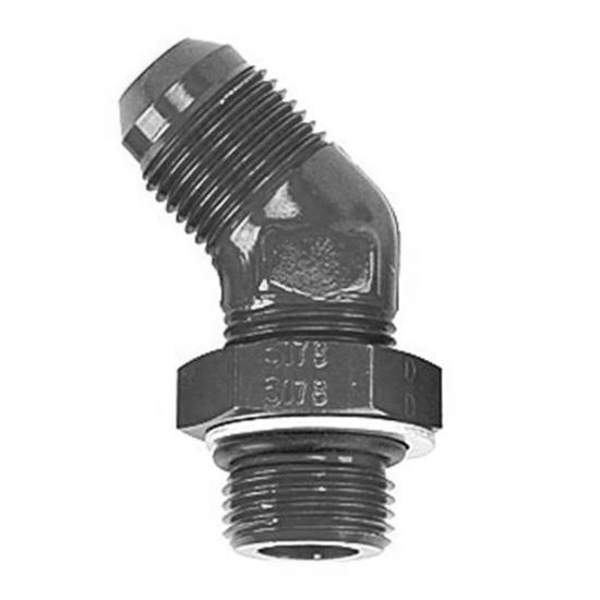 Goodridge AN922-12DBLK -12 AN to -12 Port Fitting, 45 Degree, Black