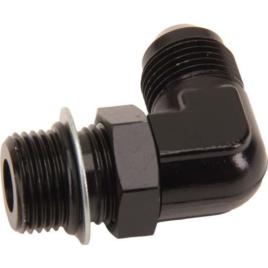 Goodridge AN921-08DBLK High-Flow Port Adapter Fitting, -8AN, 90 Degree