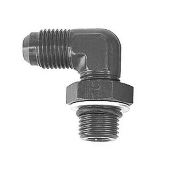 Goodridge AN921-10DBLK -10 AN to -10 Port Fitting, 90 Degree, Black