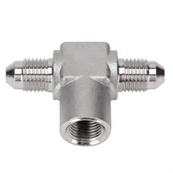Stainless Steel AN3 to AN3 Tee, 1/8 Inch NPT Female