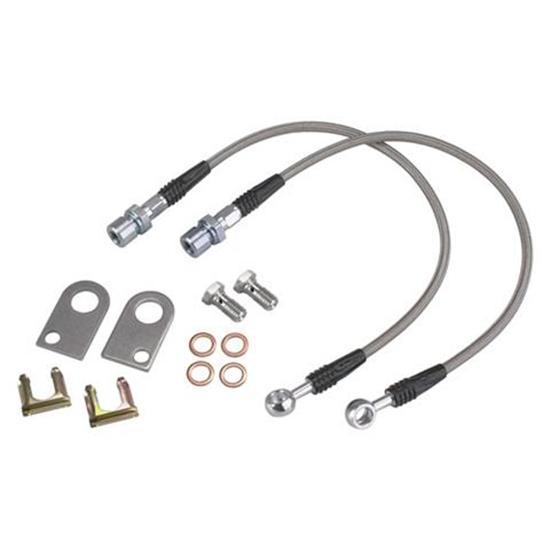 Pro Braking PBR2875-WHT-GOL Rear Braided Brake Line White Hose /& Stainless Gold Banjos