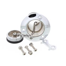 Chrome Plated Stainless Steel Flush Mount Fuel Fill