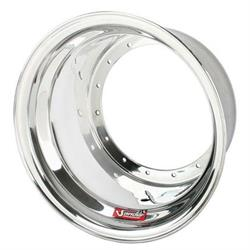 Sander Engineering 1-12 Plain Outer Wheel Half, 15x12 In., No Beadlock