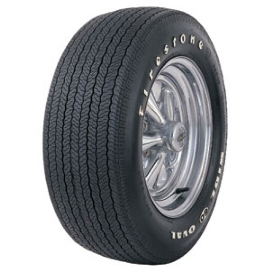 Coker Tire 62480 Firestone Wide Oval Tire, RWL, F60-15