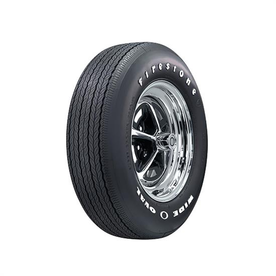 Coker Tire 62490 Firestone Wide Oval Tire, RWL FR70-15
